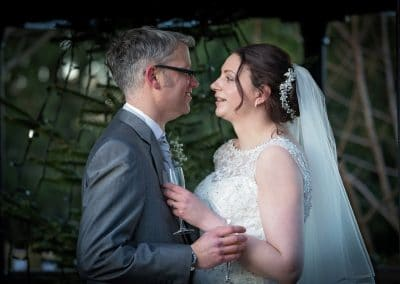 Christmas wedding at the Crown Hotel, Wetheral, near Carlisle, Cumbria