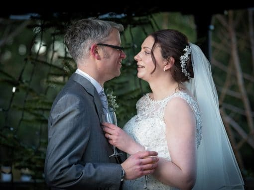 Christmas wedding at the Crown Hotel, Wetheral, near Carlisle, Cumbria
