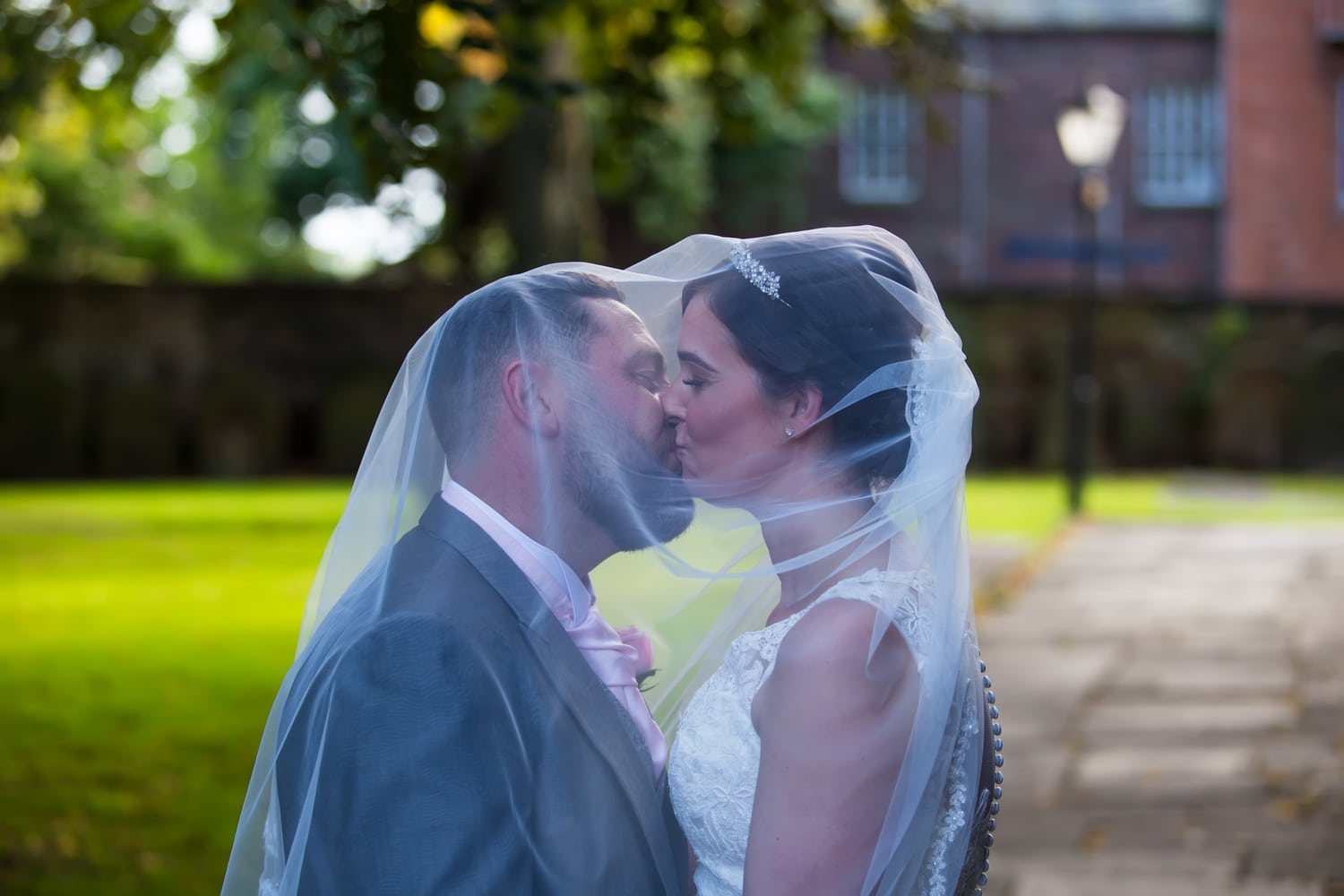 Wedding couple photographed by Keltic Rose Photography at St Cuthberts Church Carlisle