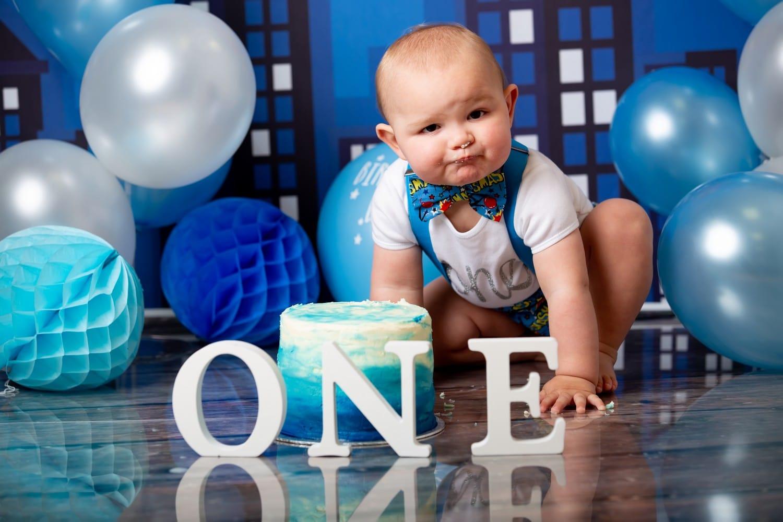 Sensational Boys First Birthday Cake Smash Keltic Rose Photography Funny Birthday Cards Online Alyptdamsfinfo