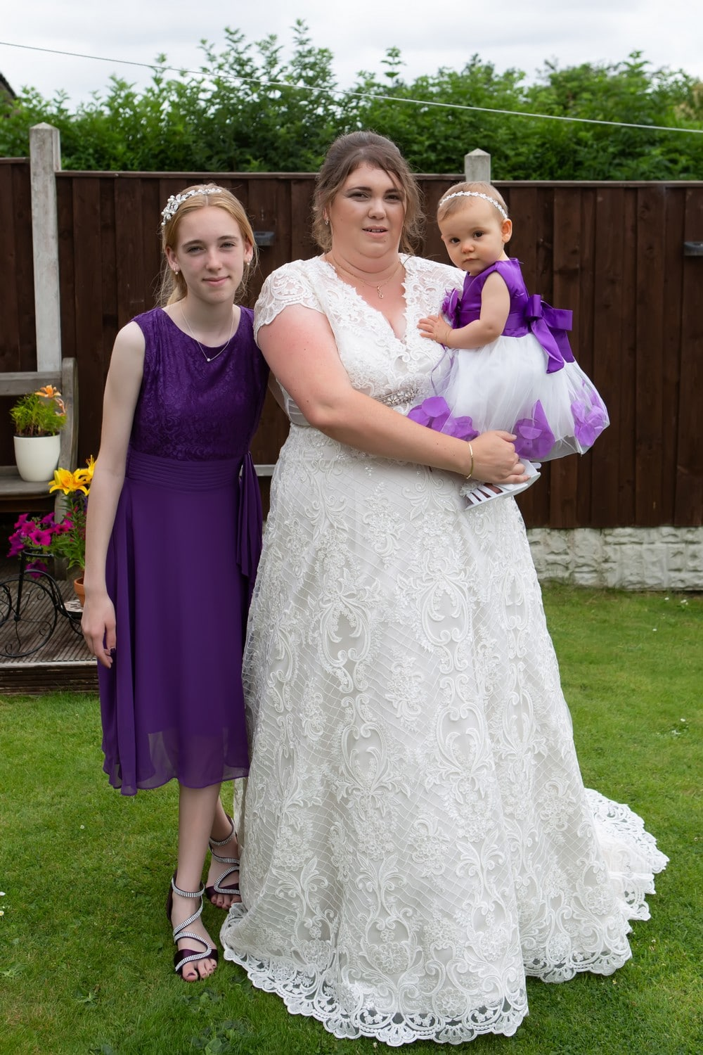 Bride and Children
