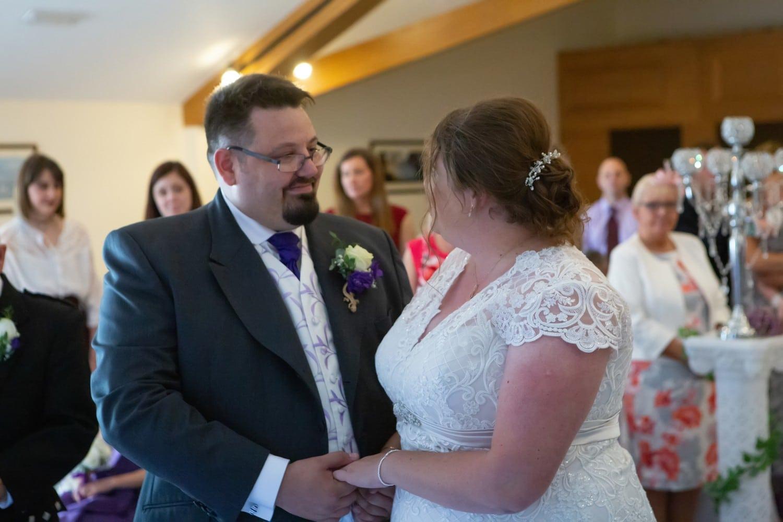 Bride and Groom at Stoneybeck Inn Penrith