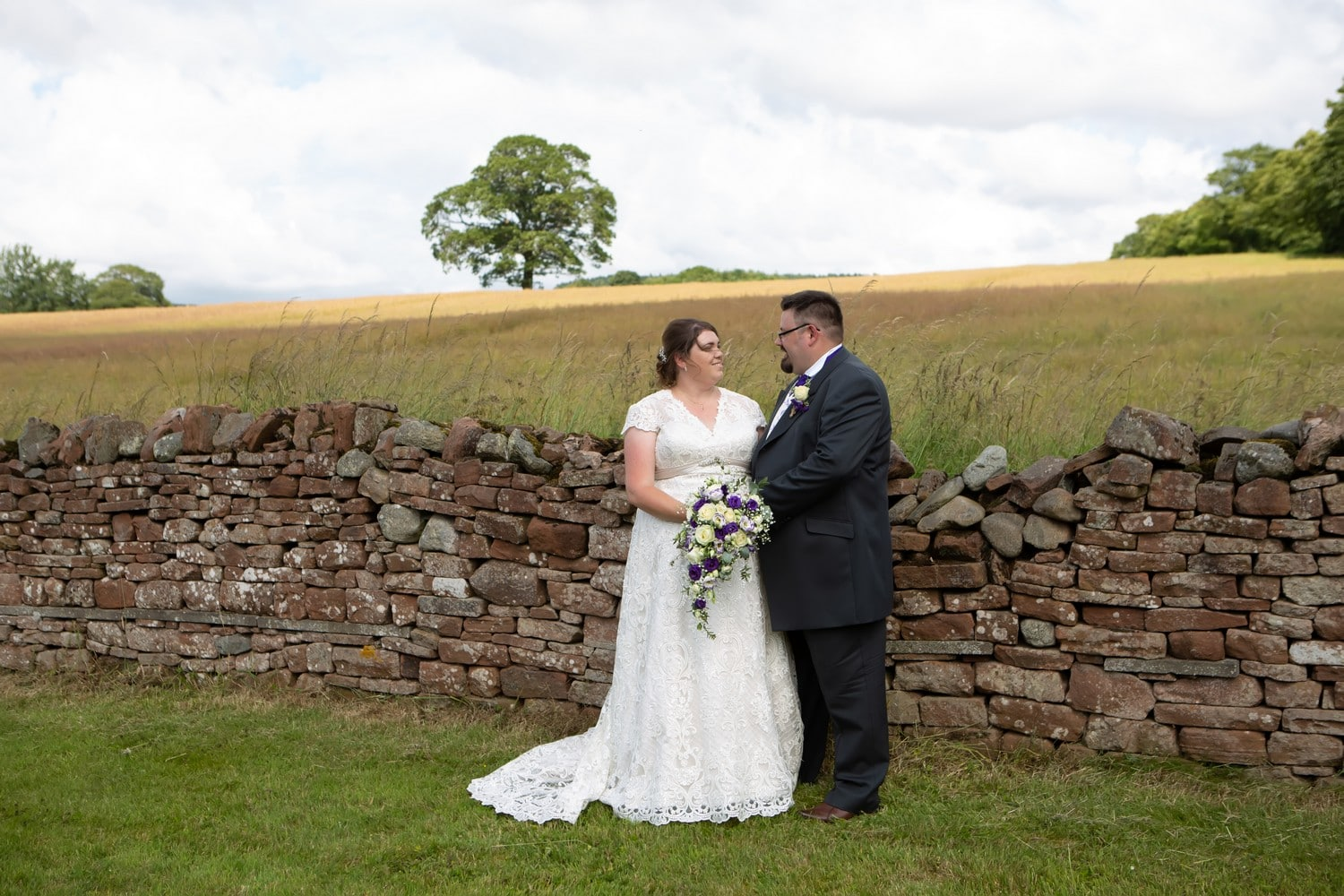 Bride and Groom at Stoneybeck Inn Penrith