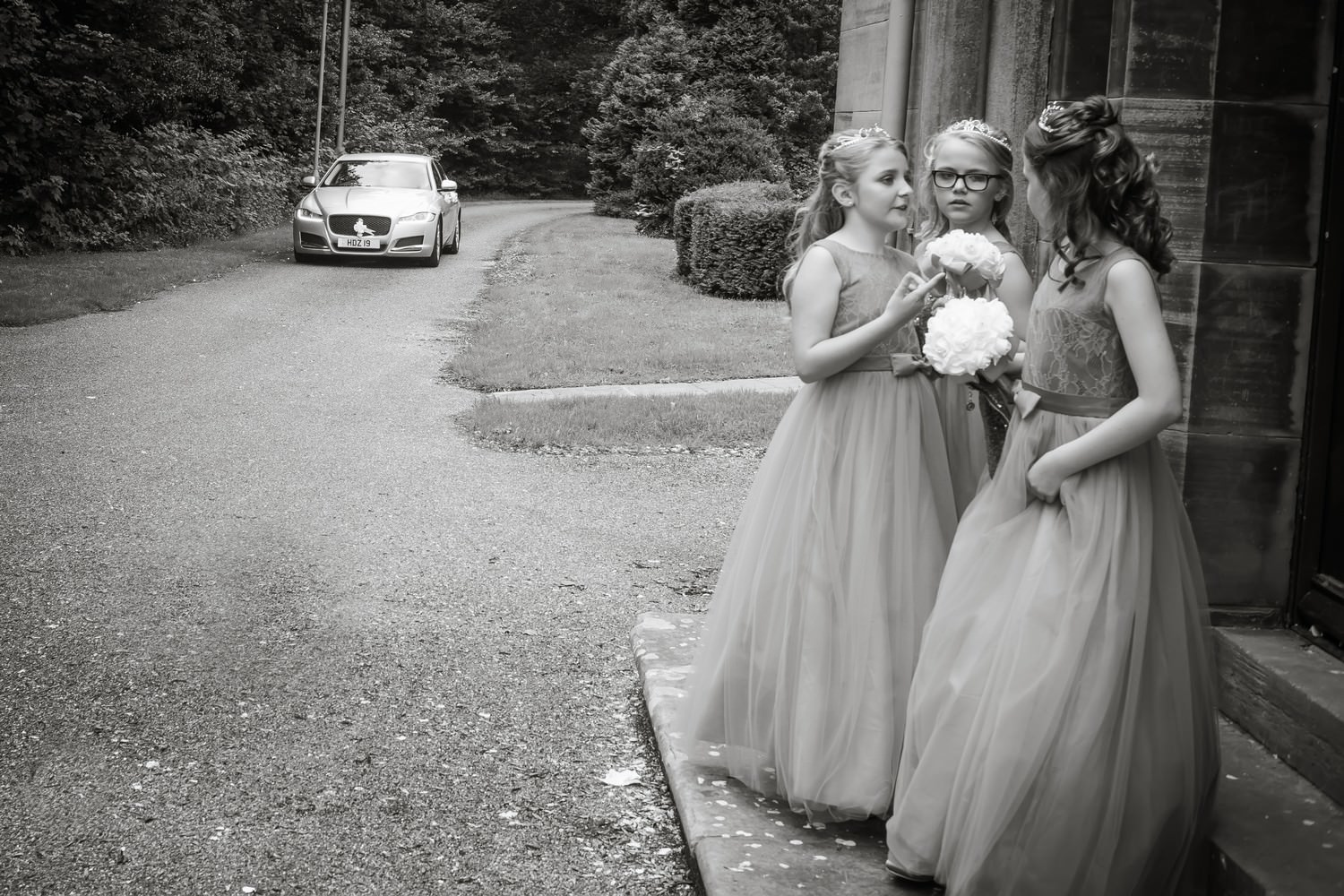 Bridesmaids at Carlisle Registry Office