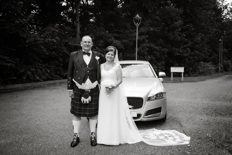 Bride arriving at Carlisle Registry Office