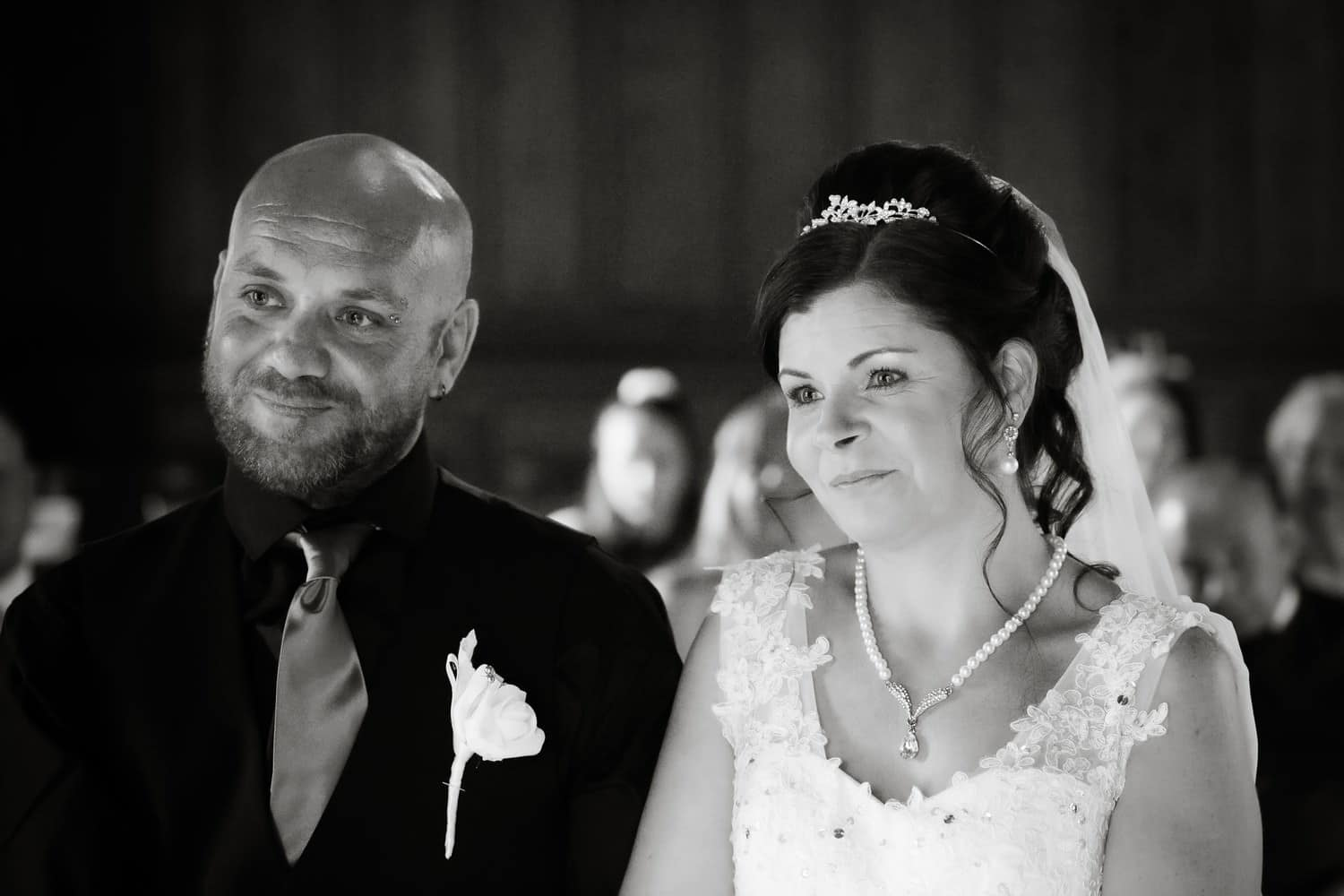 Bride and Groom during the ceremony at Carlisle Registry Office