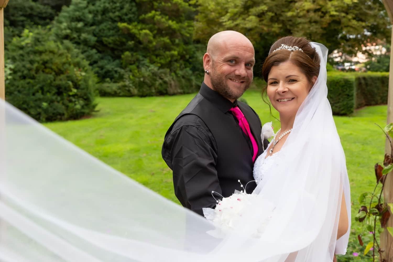 Beautiful Veil worn by the Bride at Carlisle Registry Office