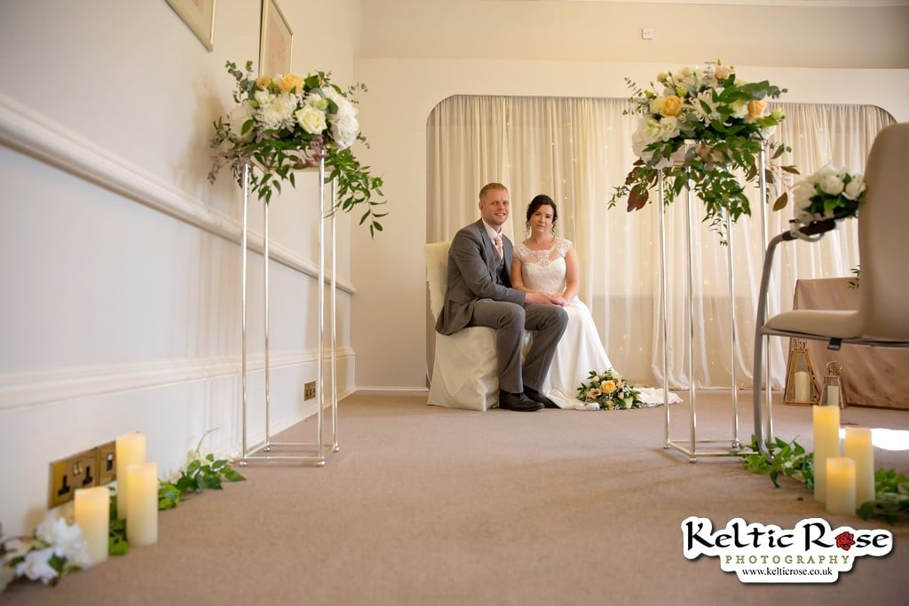 Bride and Groom at Tullie House Museum and Art Gallery Carlisle
