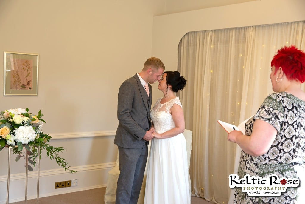 Wedding ceremony at Tullie House Museum and Art Gallery Carlisle