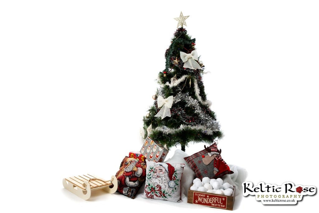Christmas Tree at Carlisle Christmas Family Photo Session