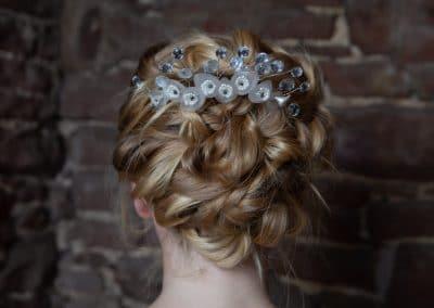 Wedding Hair and Red Hedgehog Jewellery