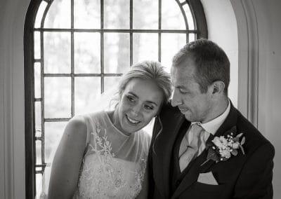Bride and Groom at Blaithwaite Hall near Carlisle