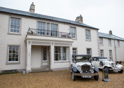 Wedding Cars at Blaithwaite House near Carlisle
